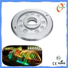 2016 Nouveau produit IP68 lumière sous-marine, ss316 9w conduit lumière fontaine sous-marine