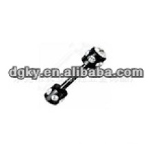 Perle noir en acier inoxydable 316L