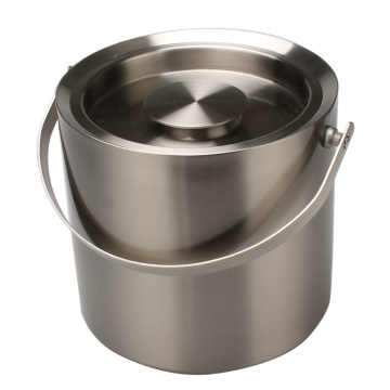 Premium Ice Bucket Insulated Stainless Steel Double Walled