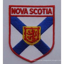 Parche tejido con bordado del nombre de la ciudad, insignia Embroideried (GZHY-PATCH-004)