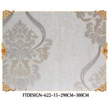 Fábrica de papel pintado de alta calidad, papel pintado del nuevo diseño Wallcovering, paño colgante