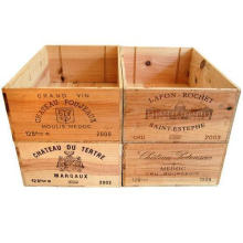 12 bottle size - Wooden Wine Box Crate for Vintage Shabby Chic Home Storage