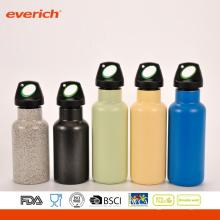 Fácil de llevar al aire libre de agua de acero inoxidable botella de agua