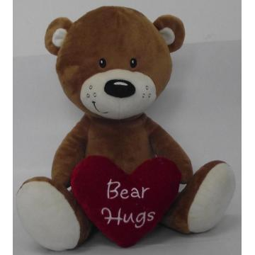 Lovely heart teddy bear doll bear doll
