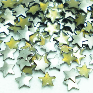 Fer plat Star goujons nickel mat