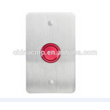 16MM Mounting Dia .Red Housing color Piezo Switch Waterproof IP68,Metal Anti vandal Piezoelectric Push Button Switch 2 wire lead