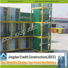 Bâtiment modulaire léger d'hôtel de structure métallique de coût bas
