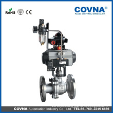 COVNA pneumatic flanged type ball valve with air filter of JIS standard
