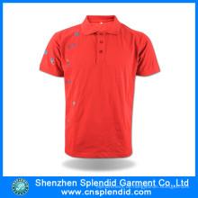 Benutzerdefinierte hochwertige Baumwolle bestickt Polo T-Shirts