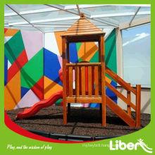 Children Backyard Wood Plastic Composite Playground (LE.QT.132)
