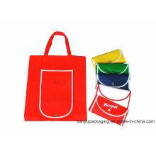 Производство Eco Многоразовые красочные складные Non Woven Bag