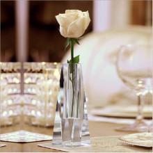 Großhandelsneuer Entwurfs-Kristallblumen-Glasvase für Hauptdekoration