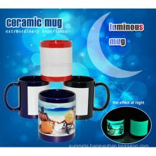 Sunmeta manufacturer hot sale Patch luminous Sublimation Mug 11oz