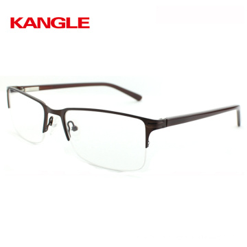 2018 new half-rimless optical eyeglasses frame with classic design