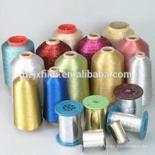 Fio metálico prateado puro / ouro tricô Fio metálico / Fio metálico elegante