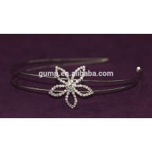 Fleur Design Coréen Petites filles Mode Rhinestone Enfants Cheveux Bnd Crystal Headband