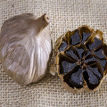 The Carefully select whole black garlic