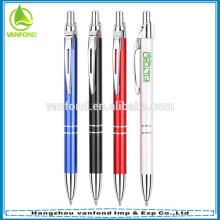 Fábrica venda direta publicidade papelaria metal caneta esferográfica promocional