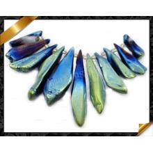 Perle de cristal en quartz perforé naturel, pendentif en cristal (GB042)