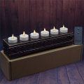 Rechargeable Moving Flame Votives Set med 6