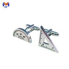 Aço inoxidável personalizado medindo abotoaduras