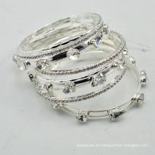 VAGULA 2016 moda plata Rhinestone collar conjunto