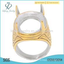 Dedo indonesia hacer por el anillo de acero inoxidable para el precio base de los hombres