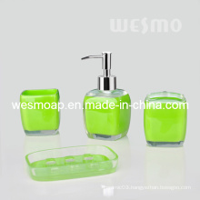 Transparent Polyresin Bathroom Set (WBP0834A)