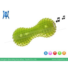 Rubber Spiked Dummbell Squaker Dog Toy
