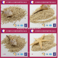 Various size corn cob sand for jewelry polishing