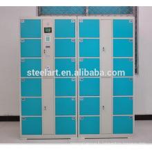 Dernier casier de stockage de supermarché d'acier inoxydable de conception avec la serrure électronique