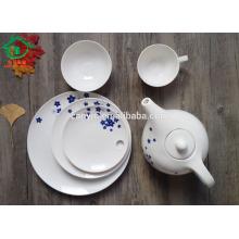 6pcs decal bone china dinner set