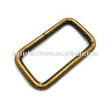 Anillo de latón antiguo del rectángulo del metal de la alta calidad de la manera