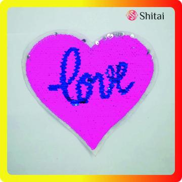 Pink Love reversible heart patch