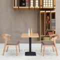 Wooden Restaurant Furniture Set with Square Table (SP-CT629)