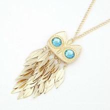 Corée Style Owl Design Rhinestone Necklace Collier en alliage de mode FN98