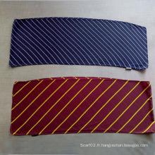 Écharpe imprimée en polyester à rayures longues en polyester