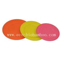 (BC-P2001) Bambus Faser Geschirr Platte