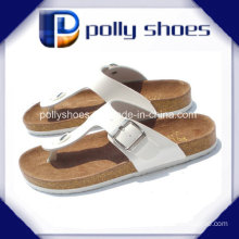 Womens Brown Leather Casual Thong Sandals