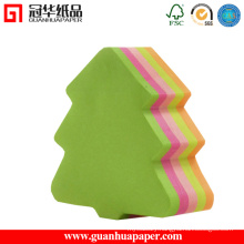 3X3 Cheap Custom Memo Pad Tree Shaped Memo Pad