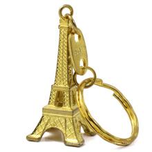 Custom design metal eiffel tower keychain