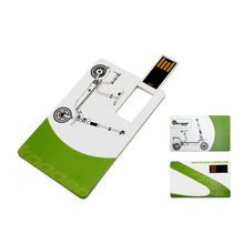 ABS Credit Card Shape USB Flash Drive with Free Logo Printing Service