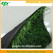 Long U shape two color PE artificial grass for soccer