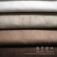 Tela del ante del faux para textiles para el hogar con el respaldo de tejido