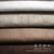 Faux Suede Fabric for Home Textile with Woven Backing