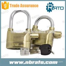 RP-127 brass top security alarm padlock