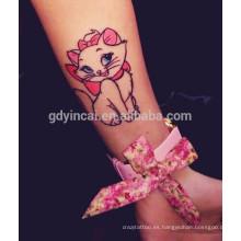 Diferentes patrones fáciles de quitar etiqueta engomada del tatuaje para niña bonita