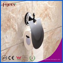 Suporte de rolo de papel higiênico de acessório de banheiro preto clássico Fyeer