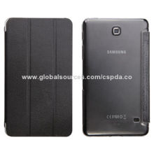 Hot Selling Super Slim 3 Bars Stand Hard Cases for Samsung Galaxy Tab 4 7.0, Magnet Flap Closure