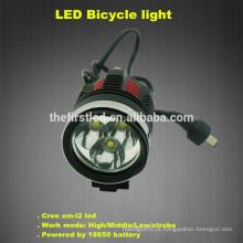 Jexree 1800 Lumen 6400mah 3xCREE XM-L2 Luz da bicicleta da bicicleta do diodo emissor de luz